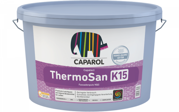 Caparol ThermoSan-Fassadenputz NQG R+K